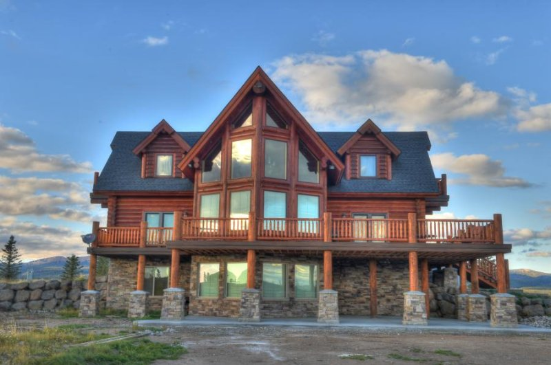 Beautifully Hand Crafted Real Log Home