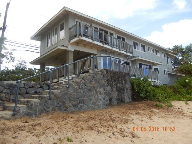 house view from the beach