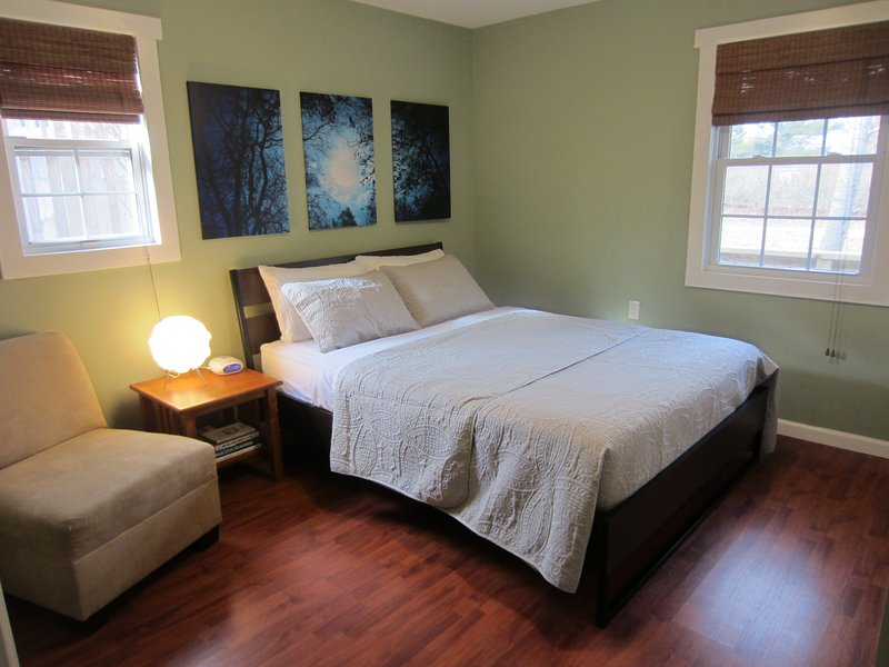 Quiet, Cozy, Private Stand-Alone House!!!  Bedroom with queen bed & closet for storage
