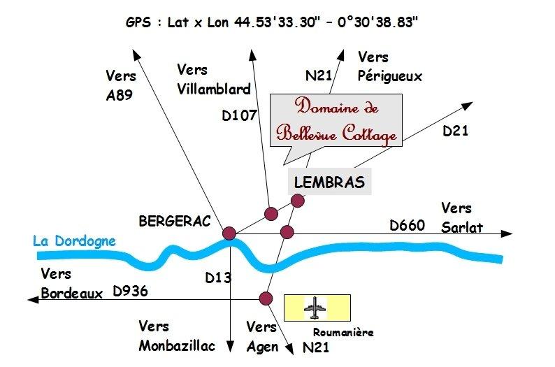 plan d'acces / access map