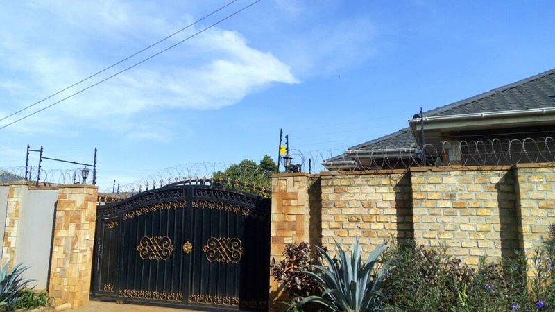 Main Entrance, security wall
