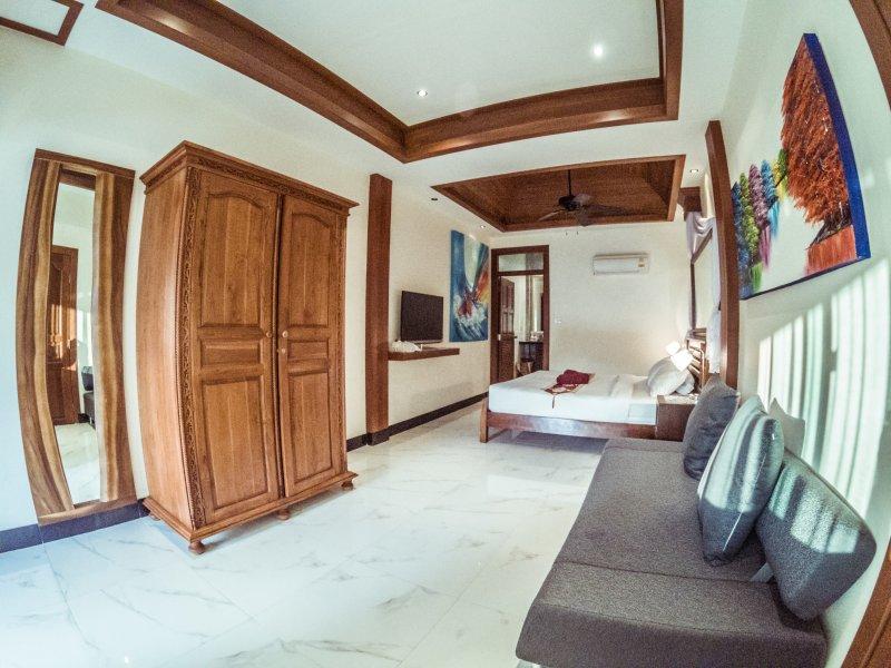 Bedroom nr 3 Apartment nr 2 Kingbed, Bedsofa En Suite