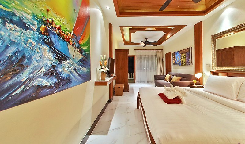 Bedroom nr 2 Apartment nr 2 Kingbed, bedsofa En Suite