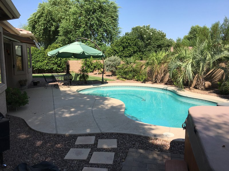 Heated Pool, Hot Tub, fruit trees.