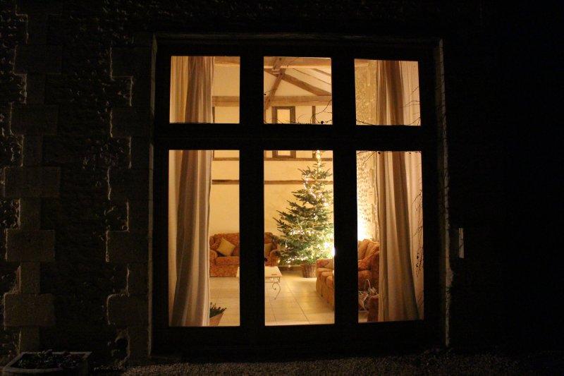 Un lugar acogedor, mágica y festiva para una Navidad de la familia.