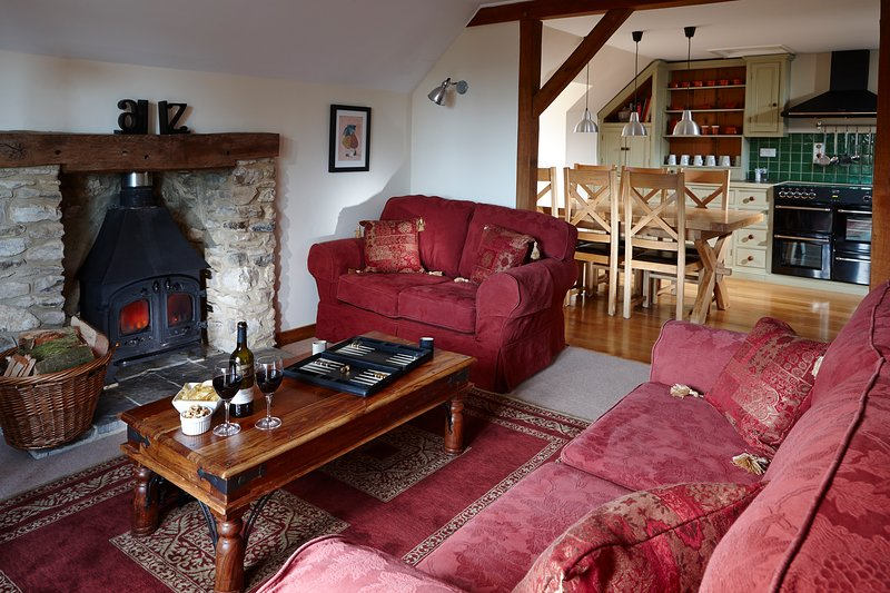 Orchard Cottage cosy and inviting lounge.