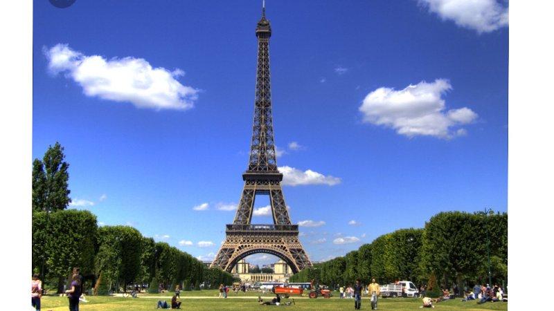 Eiffel Tower is a 45 min by train.