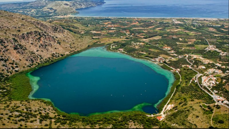Kournas Lake,Beach,15 km from our villa