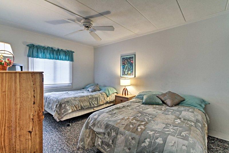 Quattro gli ospiti possono dormire nella seconda camera da letto.