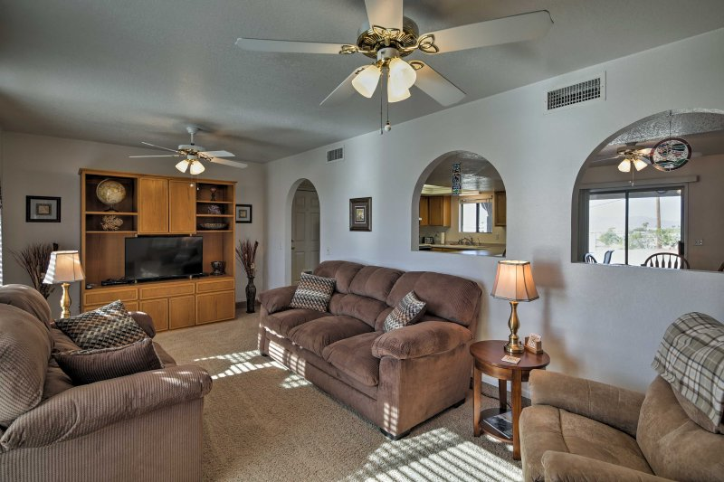 Escape to Arizona's Playground with this 3-bedroom, 2-bath vacation rental home in Lake Havasu City.