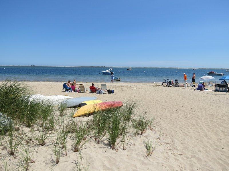 Beautiful Claflin Landing Beach is a four minute drive.