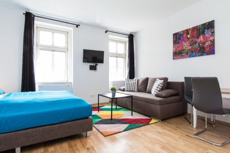 checkVIENNA - Familienplatz Studio, alquiler vacacional en Viena