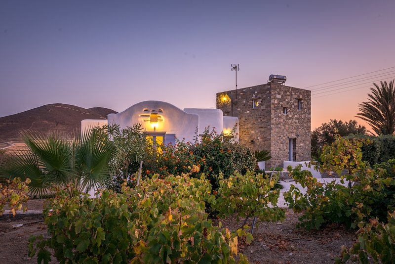Villa Erato, a beautiful Paros view Villa, location de vacances à Agios Charalampos