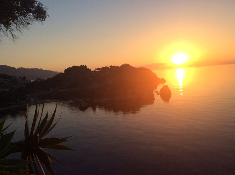 Sunrise from the villa garden