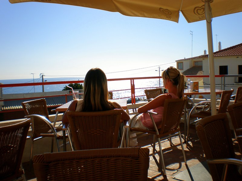 Time for a snack at Burgau Cafe Bar with sea view