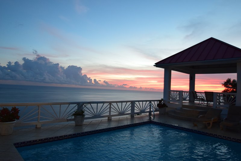 The sunsets you'll see while dining in the gazebo are spectacular!