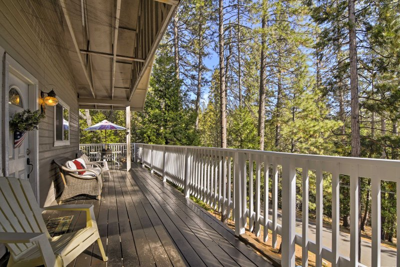 Peace and serenity await when you stay at this 3-bedroom, 2-bathroom vacation rental cabin in Arnold.