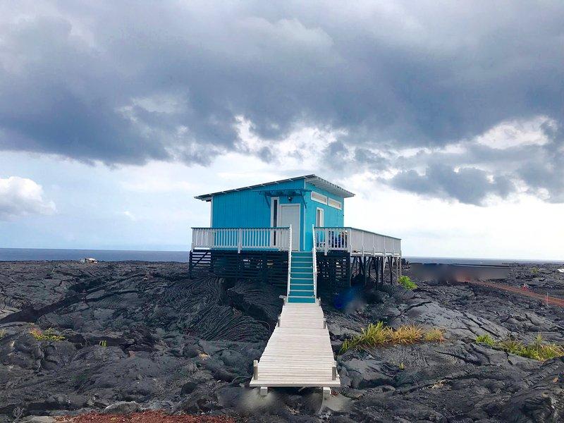 Lavaly Blue Cottage, alquiler vacacional en Kalapana