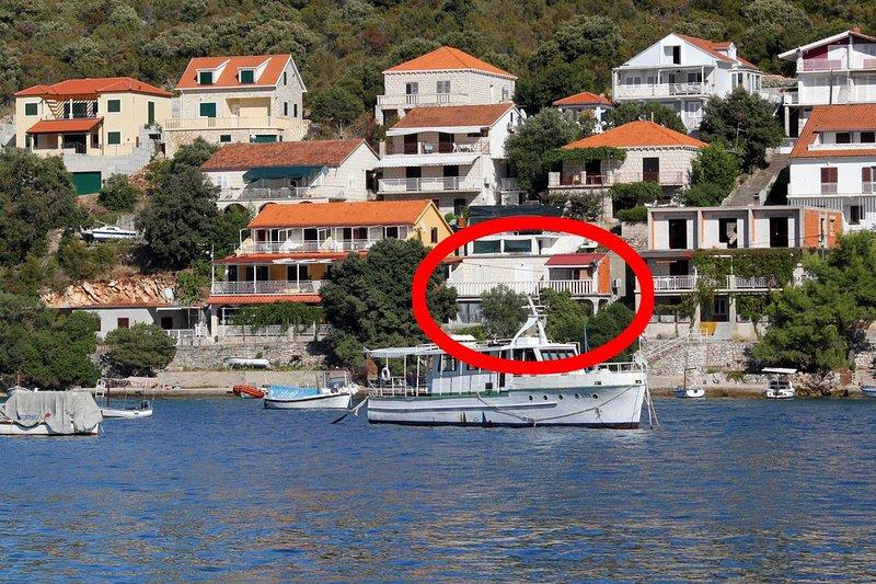 Three bedroom apartment Brna, Korčula (A-4425-b), holiday rental in Brna