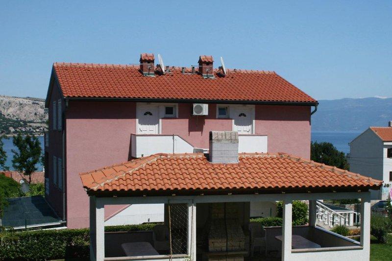 Two bedroom apartment Baška, Krk (A-5450-a), casa vacanza a Stara Baska