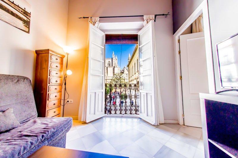 Green-Apartments Arco del Postigo: Apartamento Deluxe vista a la Catedral, holiday rental in La Campana