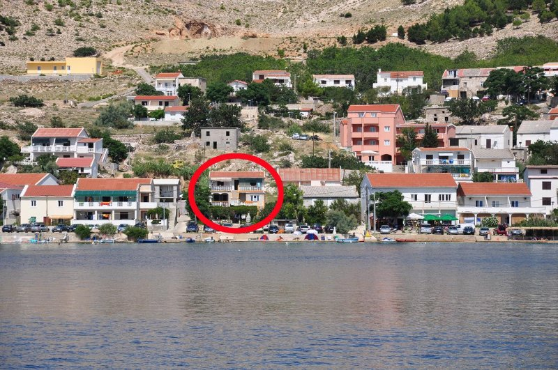 Two bedroom apartment Metajna, Pag (A-6352-d), location de vacances à Metajna