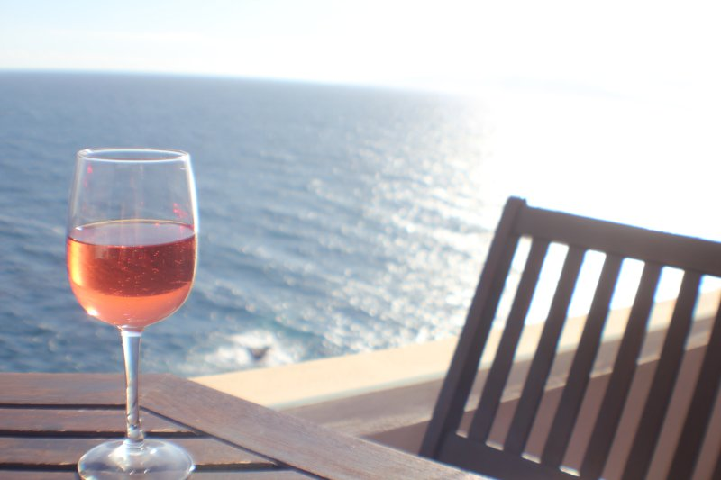 Sit here with a glass and enjoy the sunset