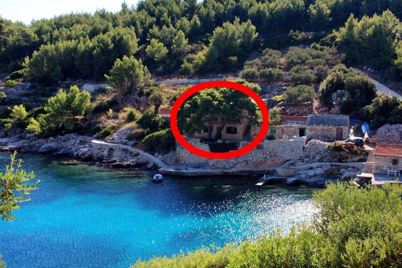 One bedroom apartment Cove Zaglav, Korčula (A-9320-a), vacation rental in Blato