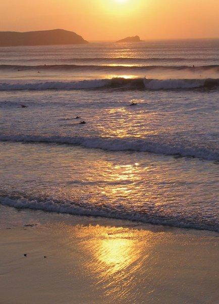 Puesta de sol en la playa Fristal