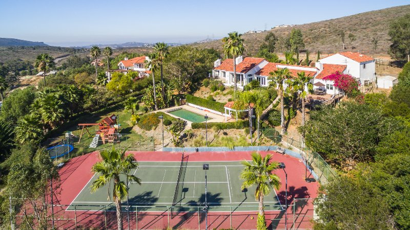 Private Ranch Guests Only Tennis Court with Basket Ball Hoop
