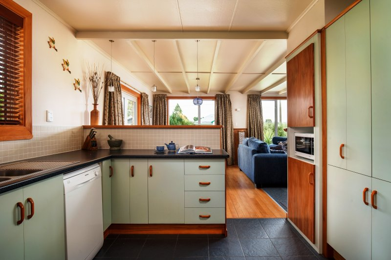 The open plan kitchen with an outlook to the other living areas.