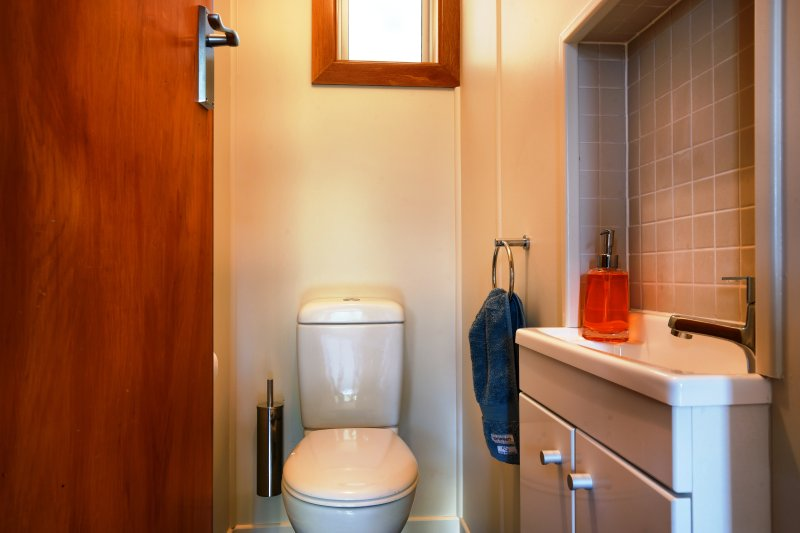 We have a second (half) bathroom with a toilet and basin.