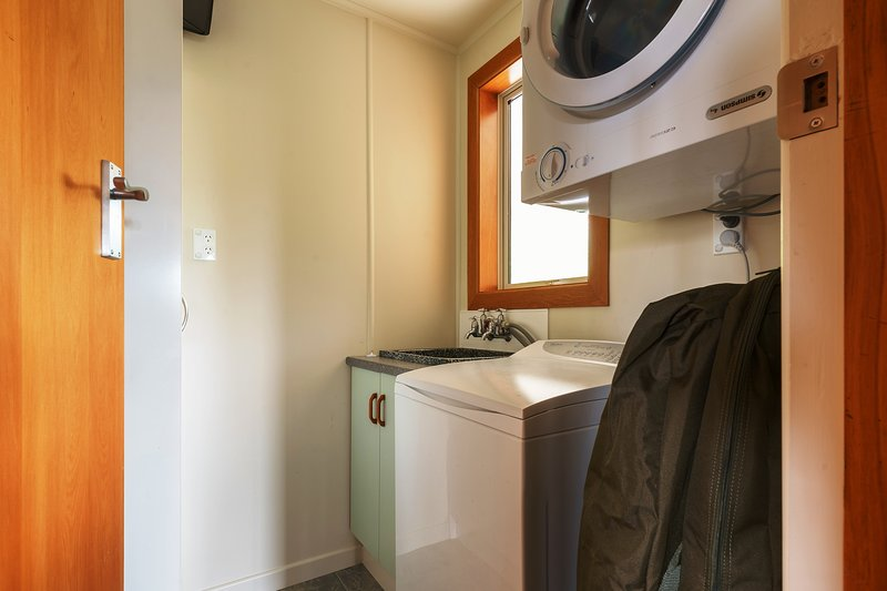 A fully equipped laundry plus indoor and outdoor washing lines