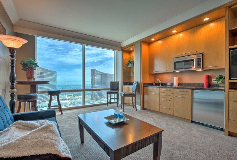 Fuga alla vibrante città di Las Vegas in questo monolocale di lusso nella Trump International Hotel!
