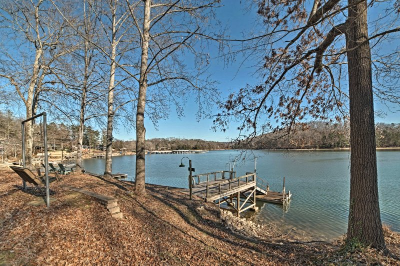 Discover your lakefront home-away-from-home at this Harrison house!