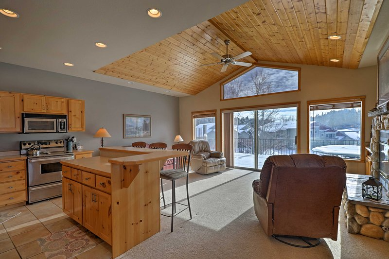 This home is perfect for families and friends traveling together.