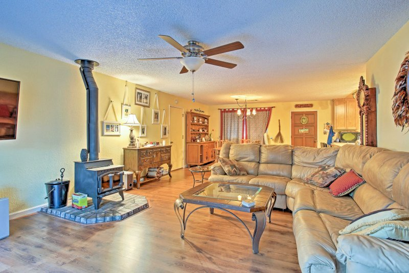 Visit Yosemite, Bass Lake and more from this 3-bedroom, 2-bathroom vacation rental home in Wishon!