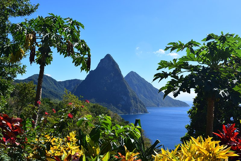 Jaw-dropping views of the Pitons and brilliant foliage surround you at Villa Grand Piton!