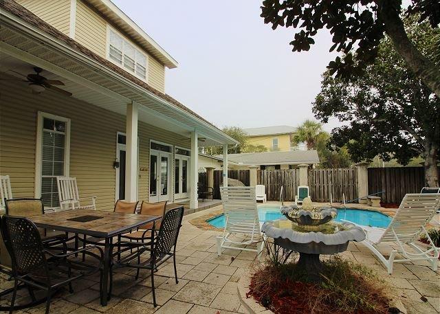 Veranda and Pool Courtyard