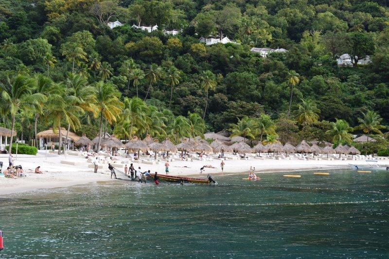 Sugar Beach - imported white sand