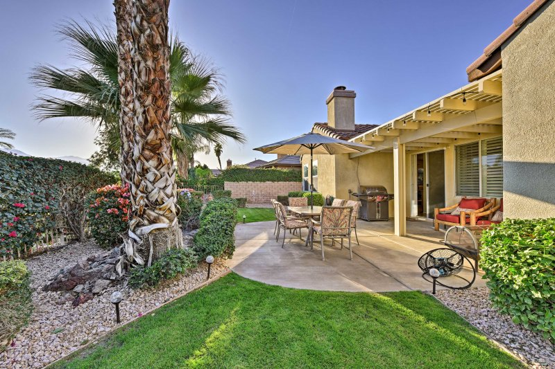 The golf getaway of your dreams awaits you at this 3-bedroom, 2-bathroom Indio vacation rental house.
