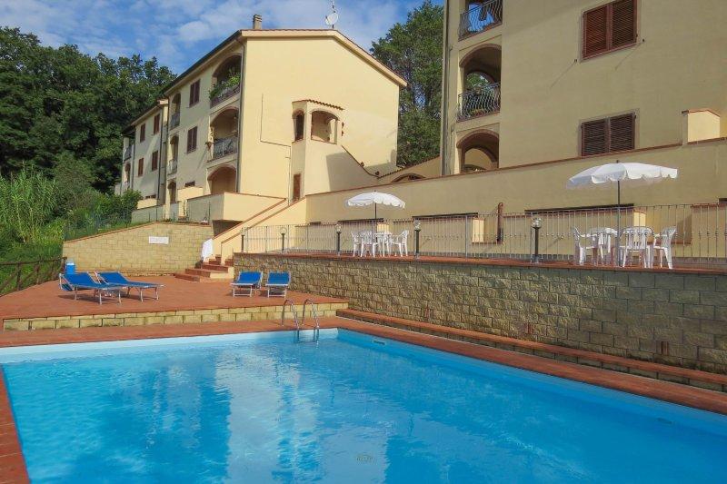 Monteverdi lodging stunning views, nr 1, swimming pool, village walking distance, holiday rental in Lustignano