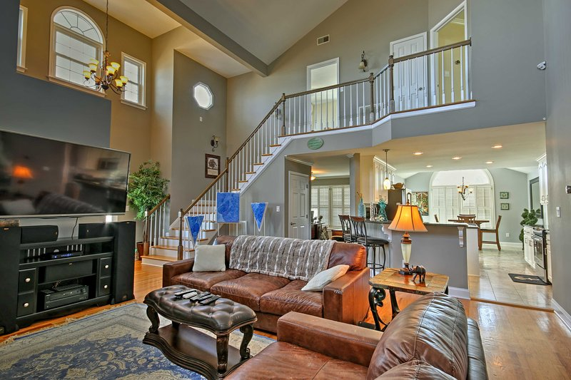 Experience the lake life of luxury from this 4-bedroom, 4-bathroom Greenwood vacation rental house!