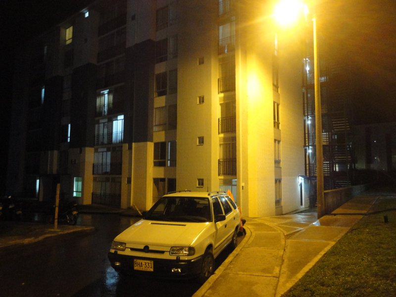 Night view residential complex