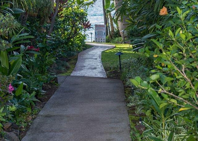 Walkway to condo