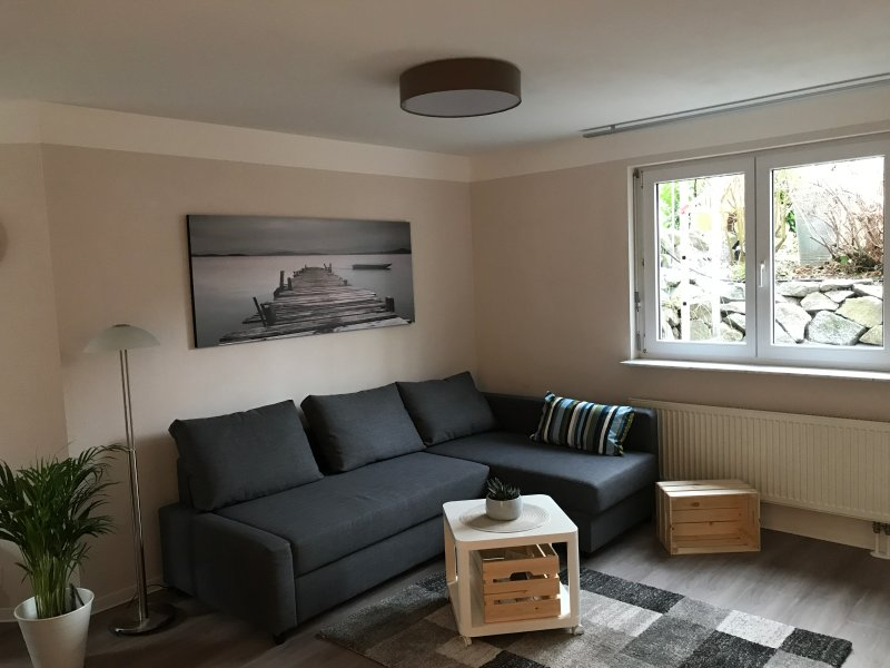 Living room with sofa function