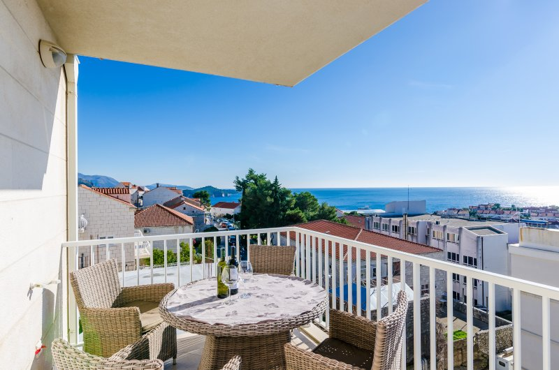 Butterfly apartment - Terrace with Sea View