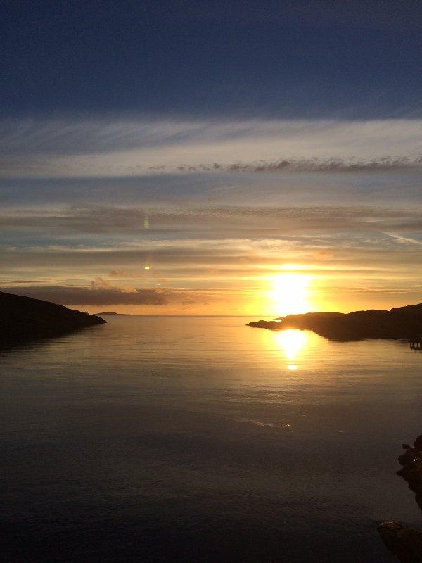 Bella Ebridi tramonto