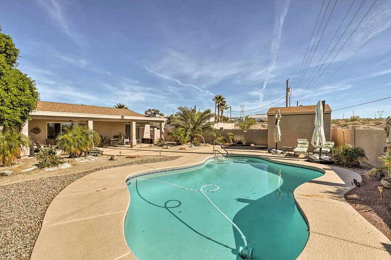 Soak up the Southwestern sun in this vacation rental home in Lake Havasu City.