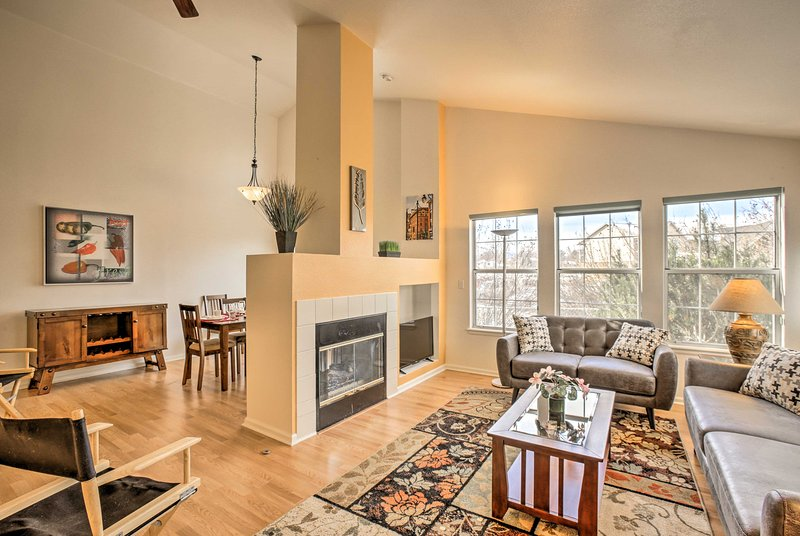 Situated just 15 miles from downtown Denver, this charming Arvada rental is a perfect home base for 4!
